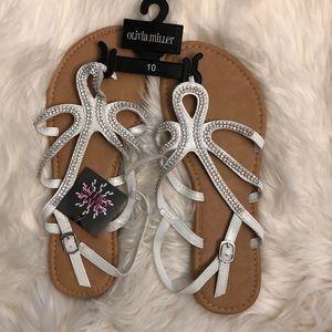 Olivia Miller sandals size 10
